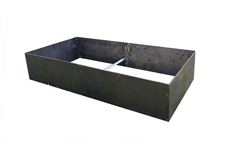 Raised Rectangular Corten Planter Bed