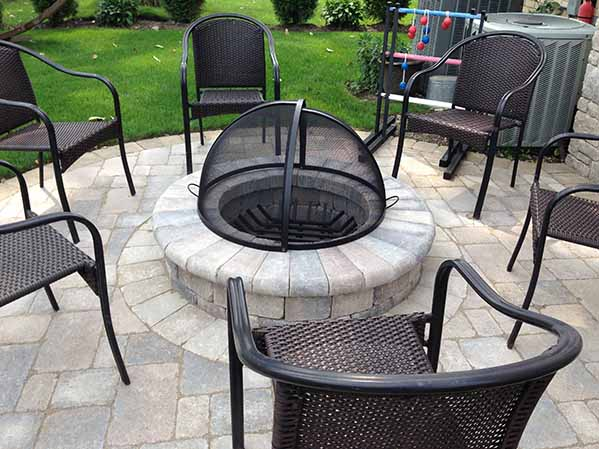 Custom Pivot Fire Pit Spark Screen Covers