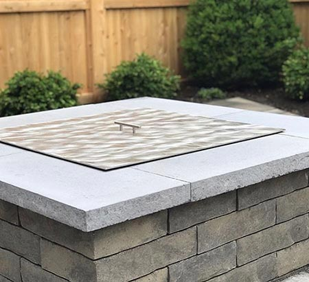 Warming Trends Brushed Aluminum Square Fire Pit Lid